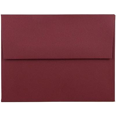 JAM Paper® A2 Invitation Envelopes, 4 3/8 x 5 3/4, Dark Red, 50/pack (31511305I)