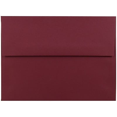 JAM Paper® A6 Invitation Envelopes, 4.75 x 6.5, Dark Red, 50/pack (157458I)