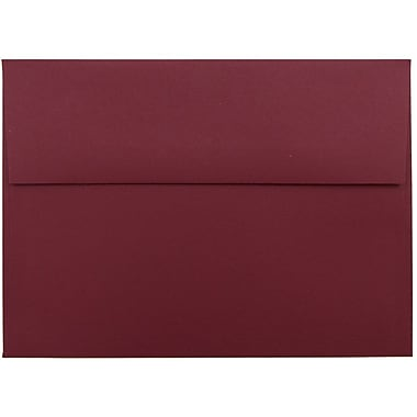 JAM Paper® A7 Invitation Envelopes, 5.25 x 7.25, Dark Red, 50/pack (31511307I)
