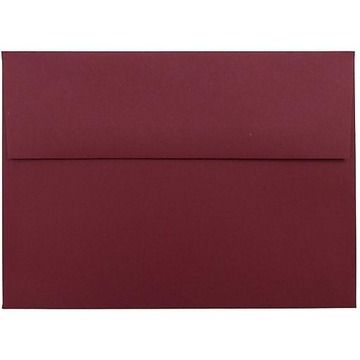 jam paper a7 invitation envelopes 5 25 x 7 25 dark red 25 pack