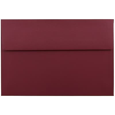 JAM Paper® A9 Invitation Envelopes, 5.75 x 8.75, Dark Red, 25/pack (31511321)