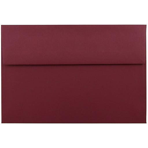 JAM Paper® A9 Invitation Envelopes, 5.75 x 8.75, Dark Red, Bulk 250/Box (31511321H)