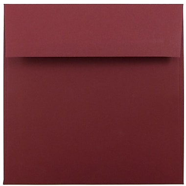 JAM Paper® 6 x 6 Square Envelopes, Dark Red, 1000/carton (31511296B)
