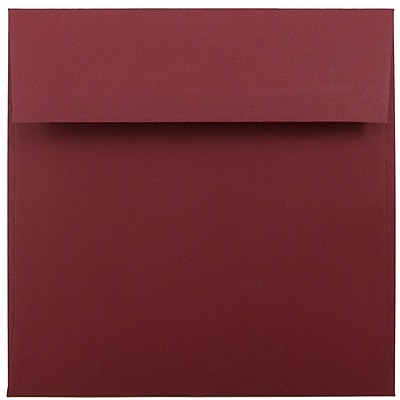 JAM Paper® 6 x 6 Square Envelopes, Dark Red, 250/box (31511296H)