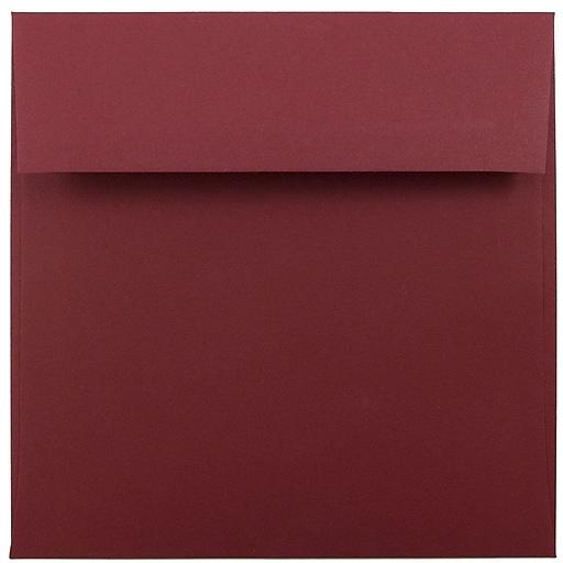 JAM Paper® 6 x 6 Square Invitation Envelopes, Dark Red, Bulk 250/Box (31511296H)