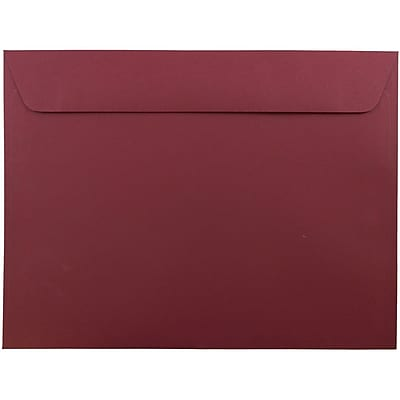 JAM Paper® 9 x 12 Booklet Envelopes, Dark Red, 1000/carton (31511309B)