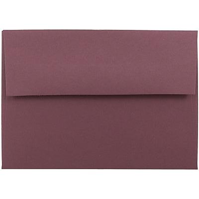 JAM Paper® 4bar A1 Envelopes, 3 5/8 x 5 1/8, Burgundy, 250/box (36395836H)