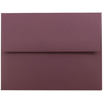 JAM Paper® A2 Invitation Envelopes, 4 3/8 x 5 3/4, Burgundy, 250/box (36395847H)
