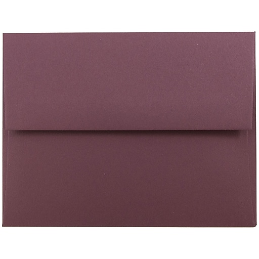 JAM Paper® A2 Invitation Envelopes, 4.375 x 5.75, Burgundy, Bulk 1000/Carton (36395847B)