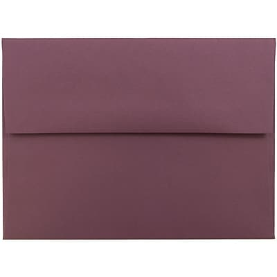 JAM Paper® A6 Invitation Envelopes, 4.75 x 6.5, Burgundy, 1000/carton (36395843B)