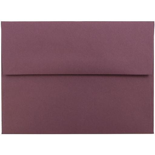 JAM Paper® A6 Invitation Envelopes, 4.75 x 6.5, Burgundy, 50/Pack (36395843I)