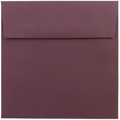 JAM Paper® 6 x 6 Square Envelopes, Burgundy, 250/box (36395838H)