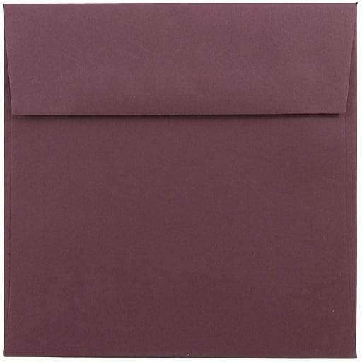 JAM Paper® 6 x 6 Square Invitation Envelopes, Burgundy, 50/Pack (36395838I)