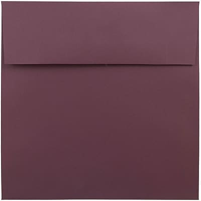 JAM Paper® 8.5 x 8.5 Square Envelopes, Burgundy, 50/pack (36395841I)