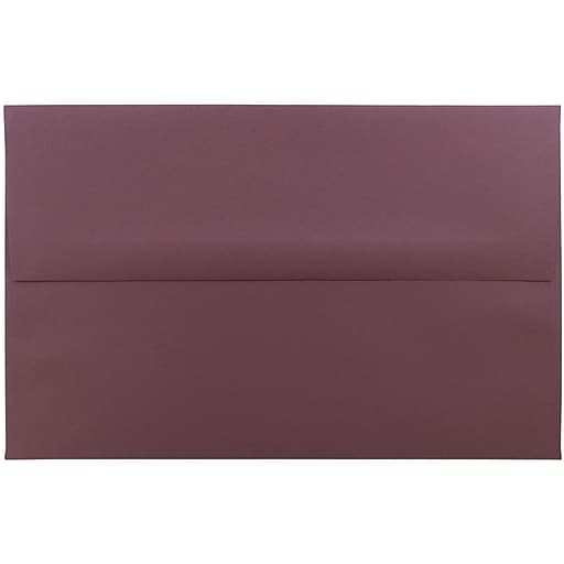 JAM Paper® A10 Invitation Envelopes, 6 x 9.5, Burgundy, 50/Pack (36395842I)