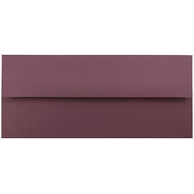 JAM Paper® #10 Business Envelopes, 4 1/8 x 9 1/2, Burgundy, 25/pack (36395840)