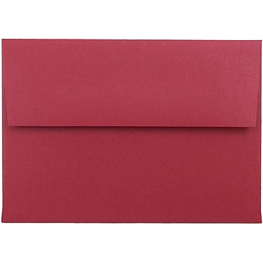 JAM Paper® 4bar A1 Envelopes, 3 5/8 x 5 1/8, Stardream Metallic Jupiter Red, 25/pack (V018247)