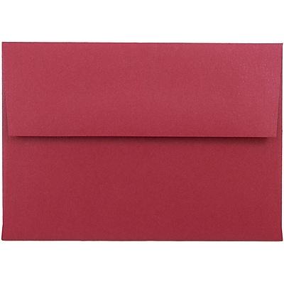 JAM Paper® 4bar A1 Envelopes, 3 5/8 x 5 1/8, Stardream Metallic Jupiter Red, 50/pack (V018247I)