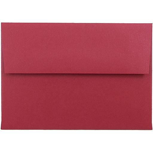 JAM Paper® 4Bar A1 Metallic Invitation Envelopes, 3.625 x 5.125, Stardream Jupiter Red, Bulk 250/Box (V018247H)