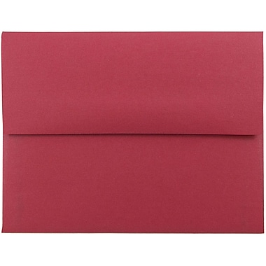JAM Paper® A2 Invitation Envelopes, 4 3/8 x 5 3/4, Stardream Metallic Jupiter Red, 25/pack (SD5370 20)