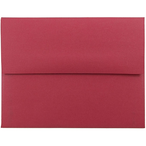 JAM Paper® A2 Metallic Invitation Envelopes, 4.375 x 5.75, Stardream Jupiter Red, Bulk 250/Box (SD5370 20H)