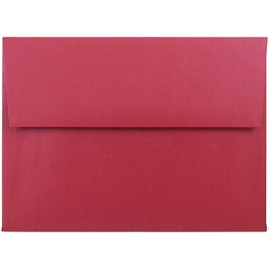 JAM Paper® A6 Invitation Envelopes, 4.75 x 6.5, Stardream Metallic Jupiter Red, 25/pack (V018263)
