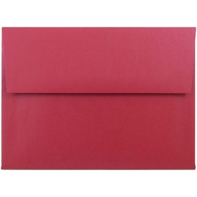 JAM Paper® A6 Invitation Envelopes, 4.75 x 6.5, Stardream Metallic Jupiter Red, 250/box (V018263H)