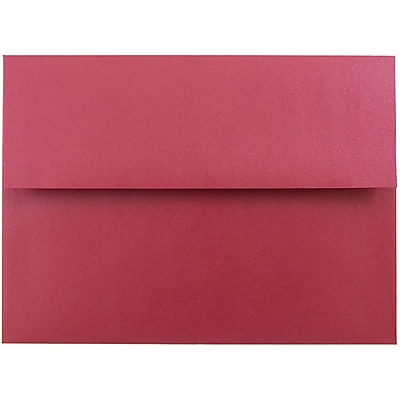 JAM Paper® A7 Invitation Envelopes, 5.25 x 7.25, Stardream Metallic Jupiter Red, 250/box (SD5380 20H)