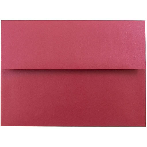 JAM Paper® A7 Metallic Invitation Envelopes, 5.25 x 7.25, Stardream Jupiter Red, Bulk 250/Box (SD5380 20H)