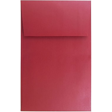 JAM Paper® A10 Policy Envelopes, 6 x 9.5, Stardream Metallic Jupiter Red, 25/pack (V018306)
