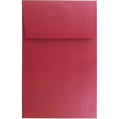 JAM Paper® A10 Policy Envelopes, 6 x 9.5, Stardream Metallic Jupiter Red, 250/box (V018306H)