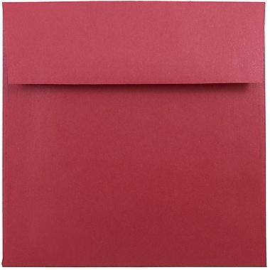 JAM Paper® 6 x 6 Square Envelopes, Stardream Metallic Jupiter Red, 250/box (184777H)