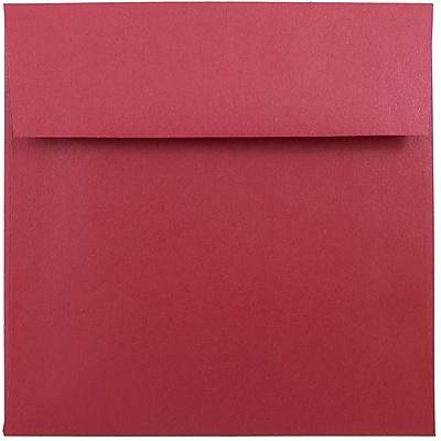 JAM Paper® 6 x 6 Square Envelopes, Stardream Metallic Jupiter Red, 1000/carton (184777B)