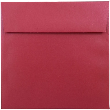 JAM Paper® 6.5 x 6.5 Square Envelopes, Stardream Metallic Jupiter Red, 1000/carton (SD853520B)