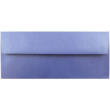 JAM Paper® #10 Business Envelopes, 4 1/8 x 9 1/2, Stardream Metallic Sapphire Blue, 500/box (V018289H)