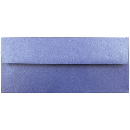 JAM Paper® #10 Metallic Business Envelopes, 4.125 x 9.5, Stardream Sapphire Blue, 50/Pack (V018289I)