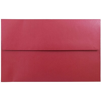 JAM Paper® A10 Invitation Envelopes, 6 x 9.5, Stardream Metallic Jupiter Red, 25/pack (22400)