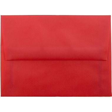 JAM Paper® A6 Invitation Envelopes, 4.75 x 6.5, Red Translucent Vellum, 250/box (PACV655H)