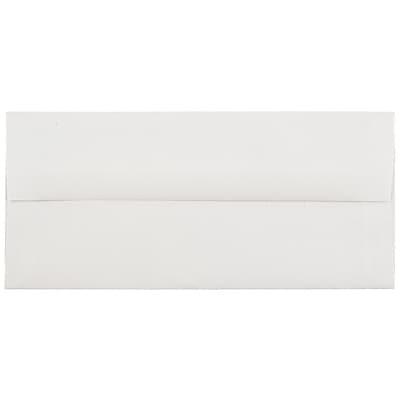 JAM Paper® #10 Business Envelopes, 4 1/8 x 9 1/2, Strathmore Bright White Laid, 500/box (191166H)