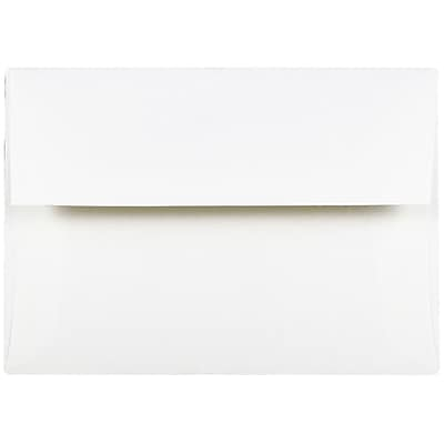 JAM Paper® A2 Invitation Envelopes, 4 3/8 x 5 3/4, Strathmore Bright White Wove, 50/Pack (191151I)