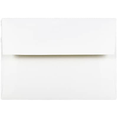 JAM Paper® A6 Invitation Envelopes, 4.75 x 6.5, Strathmore Bright White Wove, 50/Pack (STTW661I)