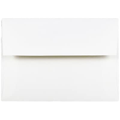 JAM Paper® A7 Invitation Envelopes, 5.25 x 7.25 Strathmore Bright White Wove, 25/pack (STTW711)