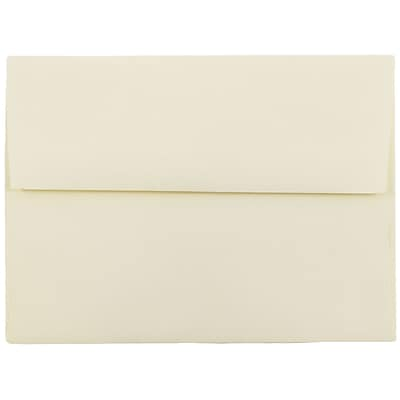 JAM Paper® A6 Invitation Envelopes, 4.75 x 6.5, Strathmore Ivory Wove, 25/pack (900913185)