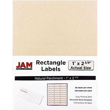 JAM Paper® Mailing Address Labels, 1 x 2 5/8, Natural Parchment, 120/pack (2273704)