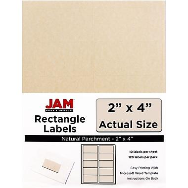 JAM Paper® Mailing Address Labels, 2 x 4, Natural Parchment, 120/pack (V0227360)