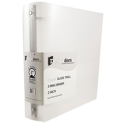 JAM Paper® Plastic 3 Ring Binder, 2 Inch, Clear, Sold