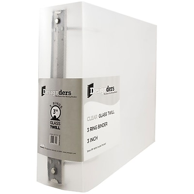 JAM Paper® Plastic 3 Ring Binder, 3 Inch, Clear, Sold Individually (821T3CL)
