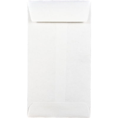 JAM Paper® #5 Coin Envelopes, 2 7/8 x 5 1/4, White, 250/box (16211217H)