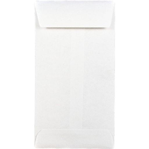 JAM Paper® #5 Coin Business Envelopes, 2.875 x 5.25, White, Bulk 250/Box (16211217H)