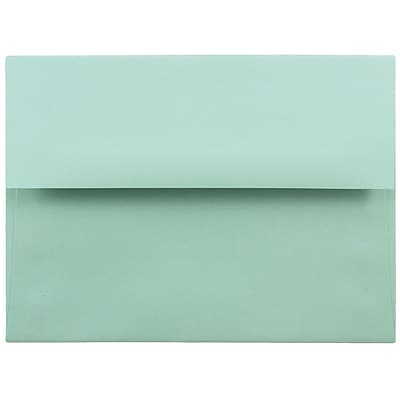 JAM Paper® A6 Invitation Envelopes, 4.75 x 6.5, Aqua Blue, 25/Pack (157460)